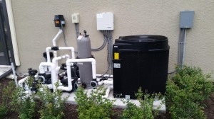 Pool Plumbing with Electric Heat Pump