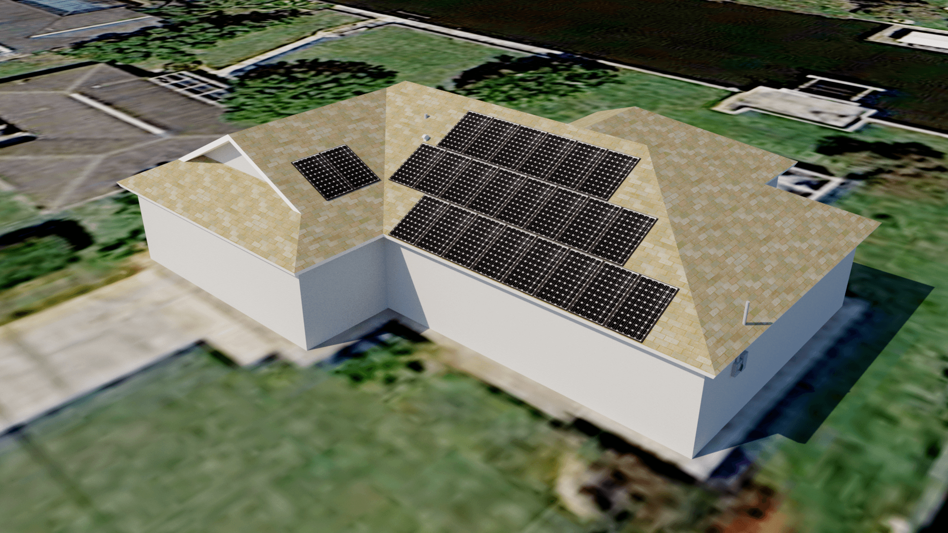 Cape Coral, FL Solar Electric System Computer Rendering