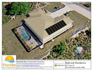 We produce a media rich solar pool heating presentation for every customers including a 3D computer rendering.