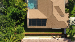 Fort Myers Solar Pool Heating Panel Installation Photo