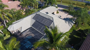 Naples, FL Solar Pool Heating Panel Installation